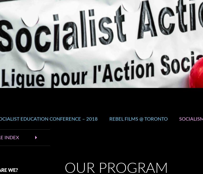 Socialist Action, bericht verstuurd aan